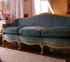 Image result for reupholster french provincial sofa