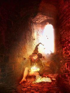 One lone witch by `AutumnsGoddess on deviantART