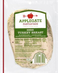 Applegate Naturals (or Organic) Turkey Breast (Herb, Roasted, Smoked), Applegate Farms Chicken Breast-Spicy Chipotle: nothing to count for SFT