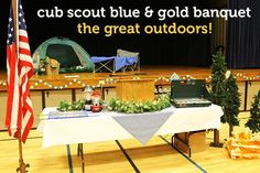 cub scout blue and gold banquet centerpieces | blue-and-gold-banquet-camping | CUB SCOUTS - BLUE & GOLD