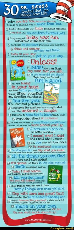 Dr. Seuss had it goin' on!  30 Quotes that Can Change Your Life.  :o)