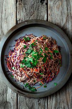Shredded Vegetable and Soba Noodle Salad