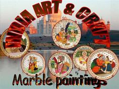 Types of Indian Painting have evolved in a parallel manner in the course of time. There are different styles of paintings which have emerged in the due course of time in different geographic locations as a result of religious and cultural impact. The paintings of India can be broadly classified as wall paintings and miniature paintings. Velvet Painting, Marble Painting, Silk Painting, Types Of Indian Paintings, Mughal Paintings, Wall Paintings, Rajasthani Painting, India Art, Buddhist Art