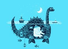 """The Yeti on Vacation"" - Threadless.com - Best t-shirts in the world"