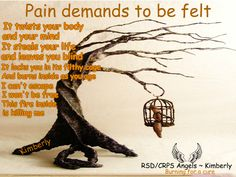 Pain demands to be felt   #rsdcrpsangels #rsd #crps #chronic #pain #illness #angels #angelsproject #chronicpain #chronicillness #awareness #awarenessmatters #invisibleillness #raredisease #shareandmakeaware #poem #poetry #burningforacure