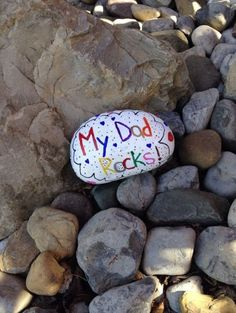 Father's Day Crafts for Kids Make use of the fine shaped rocks from your yard. Assist the kids with the use of paint. Show-off your artistic side.