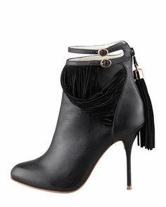 Sophia Webster Kendall Leather Fringe Bootie | FW2013
