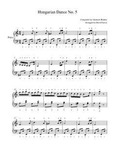 Hungarian Dance No. 5 by Johannes Brahms Piano Sheet Music | Advanced Level