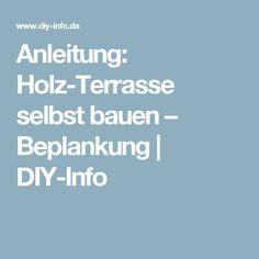 Anleitung: Holz-Terrasse selbst bauen – Beplankung | DIY-Info
