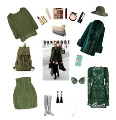 """""""Green"""" by alexmuntianu ❤ liked on Polyvore featuring beauty, WearAll, Elie Saab, Balmain, Halston Heritage, Betmar, Corgi, Dolce&Gabbana, Smith & Cult and Links of London"""