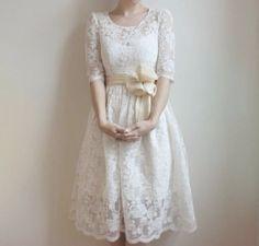 Vintage tea lace dress