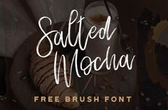 Salted Mocha is a hand drawn brush script typeface designed by Stephanie Arsenault. Created on the iPad Procreate app using our free brush pack, Salted Mocha features authentic brush stroke texture…