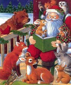 Santa reading..so sweet!