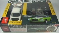 This is the 1/25 Scale '70 Chevy Camaro Complete Slot Racing Kit from AMT. Suitable for Ages 14 & Up. FEATURES: Build, decorate and race a fully featured slot car All necessary components ready to ass