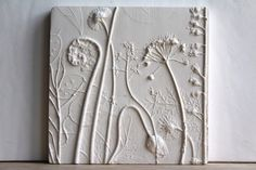 Rachel Dein – Botanical Casts in Plaster and Concrete di RachelDein Plaster Cast, Mirror Plates, Tuile, Tile Art, Wedgwood, Botanical Art, Wooden Frames, Poppies, Concrete