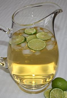 White Grape Punch  6 C. Apple juice  3 C. White grape juice  12 oz. Frozen lemonade concentrate.  Mix all together and chill.  Stir in 1 bottle club soda just before serving.  It's a golden color (great for Gold Anniversaries). Delicious.