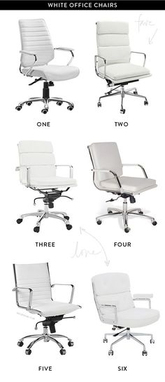 white office chairs. to make one of these your own, contact Kentwood Office Furniture