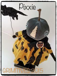 Grimitives Halloween Pumpkin Pixxie by GRIMITIVES on Etsy