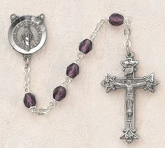 $28.74 + $9.25 shipping - Heritage Italian Catholic Amethyst (February) Czech Birthstone Rosary Silver Oxidized 5mm Crystal Bead 1¼ Crucifix by Creed Jewelry, http://www.amazon.com/dp/B00CR6737S/ref=cm_sw_r_pi_dp_yJmKrb163M4BQ
