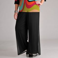 @Overstock.com - With a matte chiffon overlay on wide legs, these black plus-size slacks by AnnaLee and Hope provide a unique and flattering look. These modern-cut pants are finished with an elastic drop waistband and pocketless design for ease of wear.http://www.overstock.com/Clothing-Shoes/AnnaLee-and-Hope-Women-Plus-Chiffon-Wide-Leg-Pants/6852910/product.html?CID=214117 $29.99