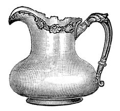 Vintage Object Image - Old Silverplate Pitcher