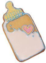 baby bottle cookie