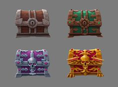 Pack of Chests on Behance
