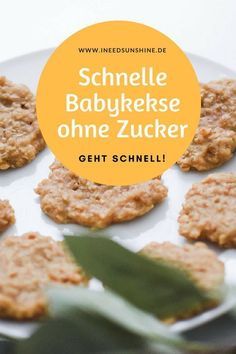 """BACKEN OHNE ZUCKER für Kinder: Rezepte – gesund & schnell"""" Baby Cookies Without Sugar: Sugar Free Baking For Children. Quick and easy recipe, healthy with applesauce and oatmeal for babies. No matter if 1 year or younger, also suitable for small children. Easy Healthy Recipes, Baby Food Recipes, Gourmet Recipes, Quick Recipes, Food Baby, Free Recipes, Cooking Recipes, Healthy Sugar, Easy Cooking"""