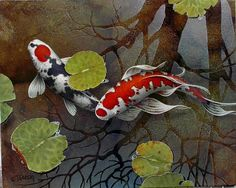I would love to own one of Terry Gilecki's amazing koi paintings, even a print.