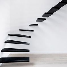 Black ad white staircase design, black and white paint colors
