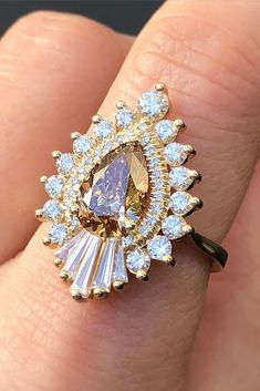 33 TOP Engagement Ring Ideas ❤️ top engagement ring ideas pear cut halo unique ❤️ See more: http://www.weddingforward.com/top-engagement-ring-ideas/ #weddingforward #wedding #bride