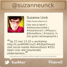 @suzanneunck's Twitter profile via @Pinstamatic (http://pinstamatic.com)