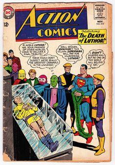 Action Comics DC Silver The Death of Lex Luthor 318 Nov November 1964   eBay