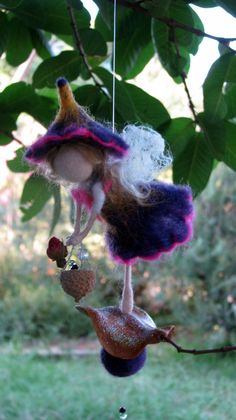 Fairy ornament Needle felted Waldorf inspired by Made4uByMagic