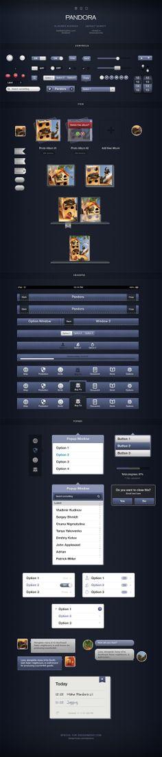 Paid - Pandora UI for iOS Designers by ~vladimirkudinov on deviantART