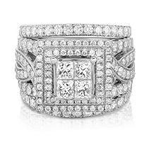2.95 CT. T.W. Diamond Bridal Set in 14KW (HI, I1) 5