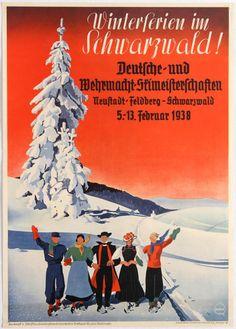 Winterferien im Schwarzwald - 1938 -