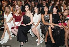Star power: Also seated in the front row of the Project Runway alum's fashion collection w...