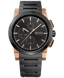 Hugo Boss Men's Chronograph Neo Black Silicone Strap Watch 46mm 1513030