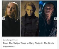 Let's just say Harry Potter and Mortal Instruments good looks on you, sir.