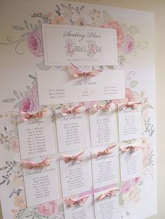 Romantic Wedding - Seating Plan in Laura design