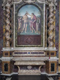 Citta Della Pieve, Umbria   Cattedrale Santi Gervasio e Protasio   Perugino - Battesimo di Cristo