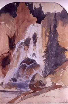 Crystal Falls, Yellowstone National Park, Wyoming (pinned by haw-creek.com)