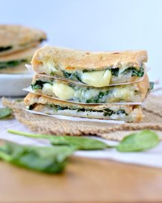 Best Grilled cheese sandwich Spinach Stuffed :http://www.sweetashoney.co/best-grilled-cheese-sandwich-spinach-stuffed/