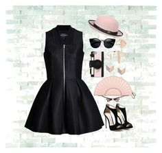 """""""Untitled #1"""" by becks-k ❤ liked on Polyvore featuring WALL, Lavinia Cadar, RED Valentino, Pilot, Kate Spade, FOSSIL, NLY Accessories and Jade Jagger"""