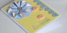 Thank You Handmade Card 3D Flower Card by CardsbyJeweleighaB, $4.00