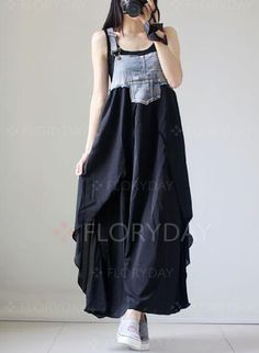 Dresses - $40.99 - Polyester Floral Sleeveless Maxi Casual Dresses (1955131525)