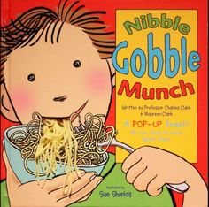 Nibble Gobble Munch is a new pop-up book which encourages young readers to learn about food and nutrition in a fun and interactive way! It's full of colourful pulls, tabs, wheels and pop ups and is used in French schools to teach young children about nutrition!