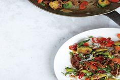 Brussels Sprouts and Steak Stir-Fry / Chris Morocco