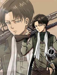 Corporal Levi with gun | Levi ALL THE WAYYYY || Why is he so Hot!! XD
